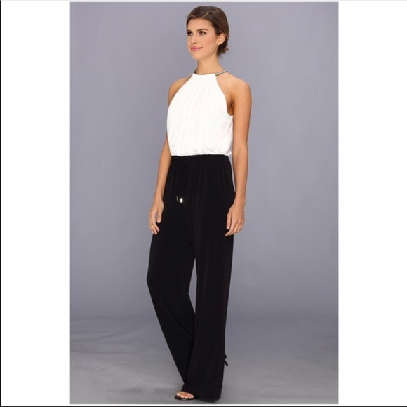be07cfc531bf Vince Camuto Pants - VINCE CAMUTO BLACK AND WHITE ROMPER SIZE MEDIUM